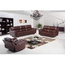 Sofá eléctrico del sofá del cuero de la calesa del cuero genuino del reclinación (752)