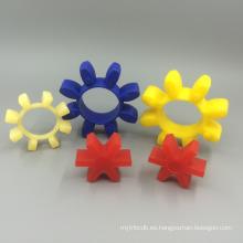 acoplador de sellado de amortiguación de elastómero de alta calidad Bomba de agua garra tipo elasticidad flor de ciruelo hexagonal núcleo estrella pu tpu estándar