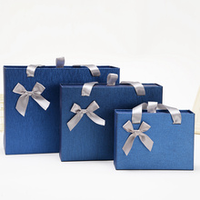Blue gift slider packaging box