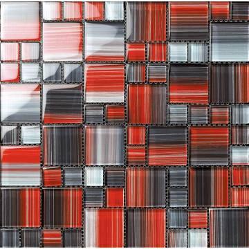 Stripe Hand Painting Glass Mosaic
