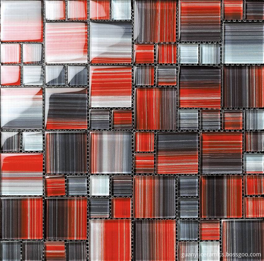Strip Painting Glass Mosaic