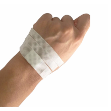 Disposable medical non-woven infusion plaster
