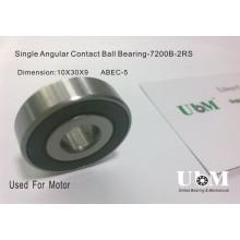 7200-B-2RS, Single Row Angular Contact Ball Bearing, Angular Contact Ball Bearing