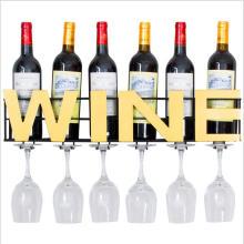 Wine Glasses Holder Storage Wall Mount Metal Wine Rack wall mounted shelf