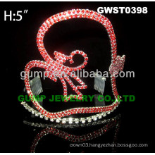 heart rhinestone tiara crown -GWST0398