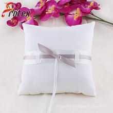 2015 Weiß Hochzeit Braut Ring Kissen mit Bogen Dekoration