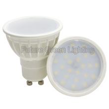 O plástico o mais barato 3W / 5W GU10 2835SMD lâmpada do ponto do diodo emissor de luz