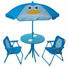 Niños plegables portátiles juegos de mesa y silla de jardín, muebles para niños