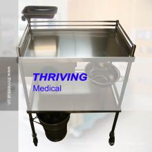 Высококачественная тележка больницы из нержавеющей стали (THR-ST-040)