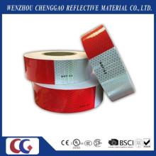 DOT-C2 cintas reflexivas del PVC de la seguridad blanca y roja para el camión