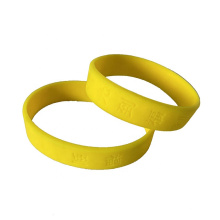 Factory Supply Your Own Logo Engraved Debossed Men Bracelet Silicone Wrist Band Rubber Wristband