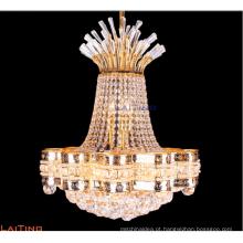 Lustre de cristal dourado pequeno decorativo do pendente do hotel que ilumina LT-78152