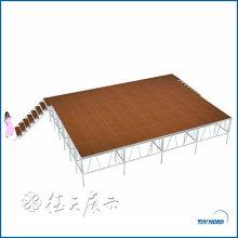 treliça circular durável do estágio do telhado da treliça treliça de alumínio exterior do estágio do treliça