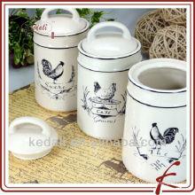 Set de tarro de cerámica para alimentos
