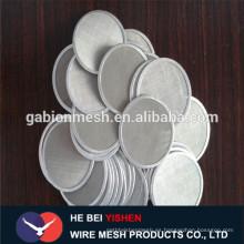 Venta caliente SS filtro disco / disco de corte de acero / disco de filtro sinterizado Anping Factory
