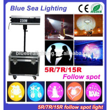 Factory price stage wedding 5R 220W follow Spot light