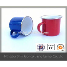 sgs enamel beautiful mugs with different color
