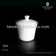 Nuevo contenedor de café crema de porcelana blanca diseño