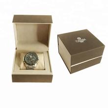 Caja de regalo de paquete de reloj plástico logotipo personalizado