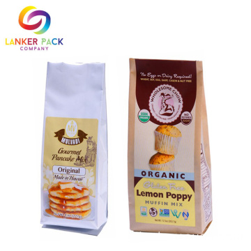 FDA Onaylı Lamine Quad Seal Cookie Ambalajı