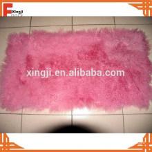 Fournisseur de la Chine Fourrure Plaque Bouclés Tibétain Agneau Fourrure