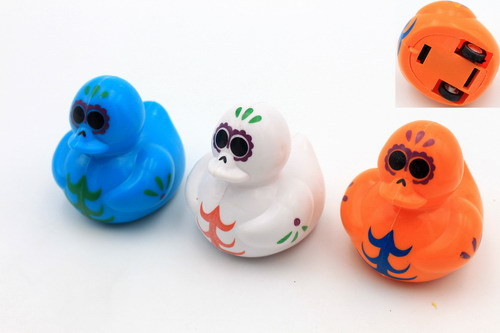 Plastic Pull Back Colored Duck Racers