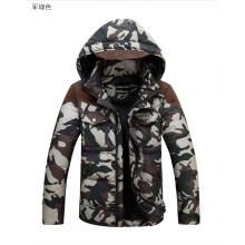 High Quality Soft Men Fashion Camo Down Jacket for Man
