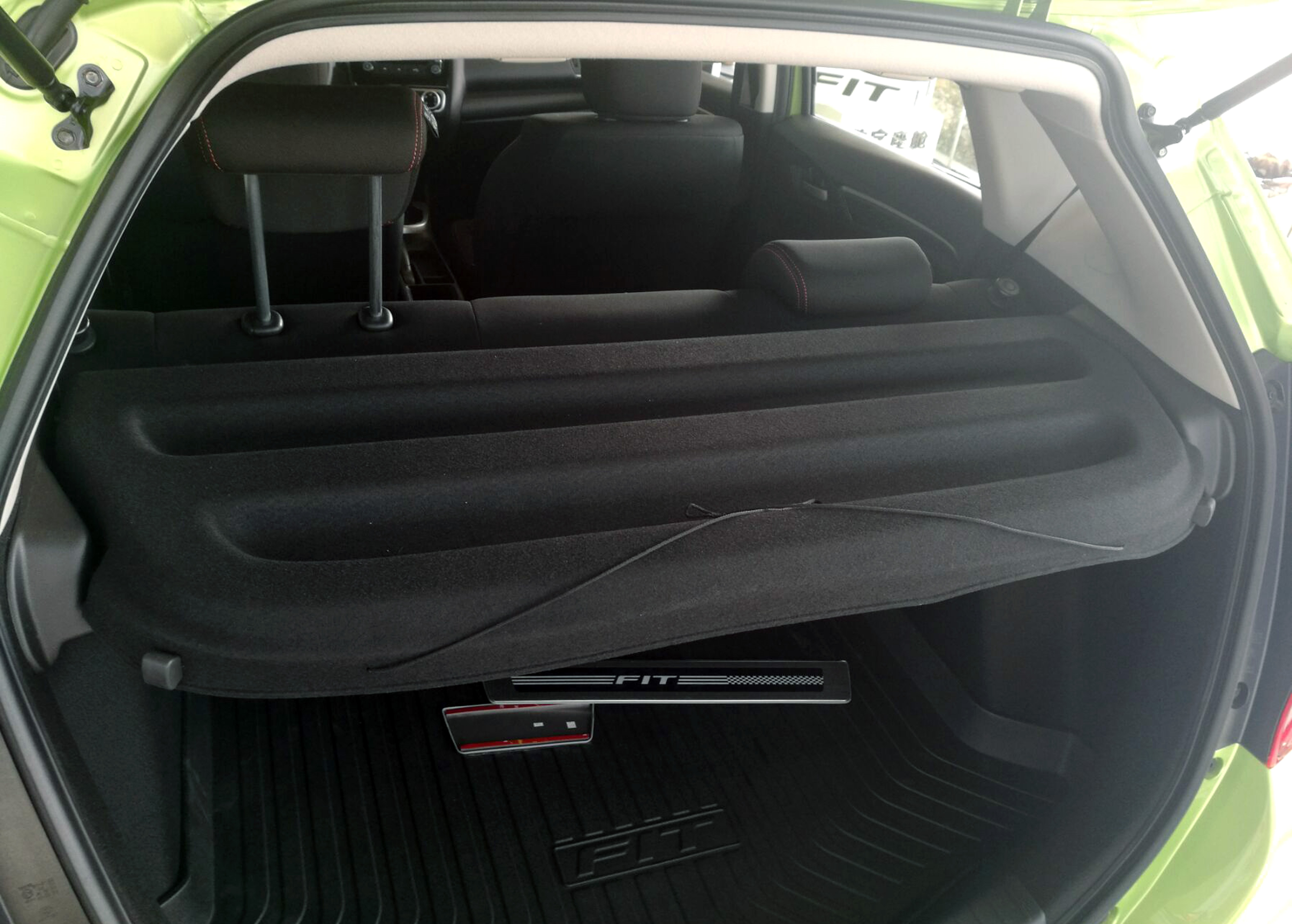 Black Cargo Cover 15 Honda Fit