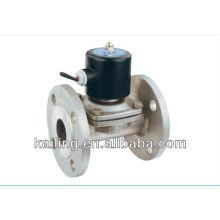 Válvula solenóide em aço inoxidável 2/2 vias com conexão flangada
