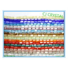 Granos de cristal al por mayor, cuentas de cristal baratas, granos de cristal del rectángulo