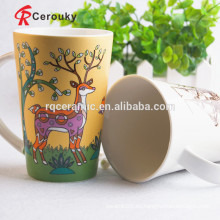 Taza de café de cerámica de encargo con el logotipo para la promoción