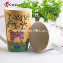 Caneca de café cerâmica feita sob encomenda com logotipo para a promoção