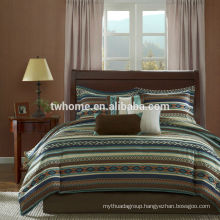 Madison Park Malone Striped Printed Duvet Bed Cover Set