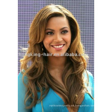 100% pelo remy indio pelucas llenas del cordón beyonce curl