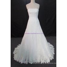 2017 lace up de volta mais recente vestido de noiva nupcial