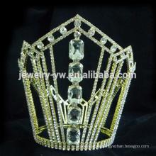 Accesorios de lujo del pelo cristal tiara metal barrette