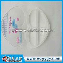 Caixa de plástico comprimido de forma personalizada coração, Imprimir caixa do comprimido do oem