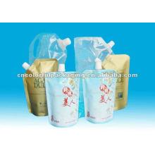 El papel de aluminio se levanta la bolsa del canalón para el embalaje cosmético