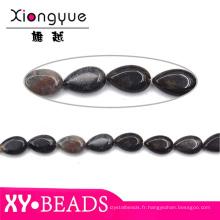Belle noire perles Perles goutte d'eau en gros de bijoux