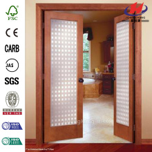 JHK-G01 Fiberglass Check Valve Double Interior Slab Door