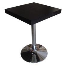 Table de salle à manger noire pour meubles de cantine et d'hôtel