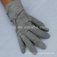 Women Winter Kid Suede Glove Leather