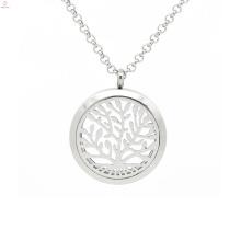 Pendentif d'aromathérapie verre argent arbre de vie, bijoux de pendentif arôme parfum
