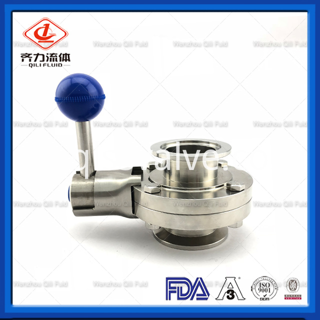 Sanitary Stainless Steel Butterfly Valve 2