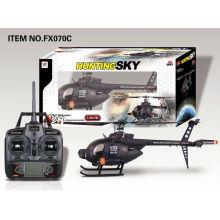 Neu eingetroffen FX070C Big 2.4G 4CH Flybarless R / C Hubschrauber mit Gyro