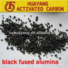 85% de alumínio fundido preto Al2O3 (BFA) abrasivo para tratamento de superfície metálica