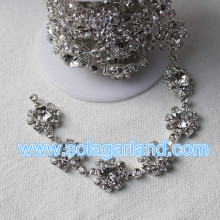 Cristallo Girasole catena fai da te diamante Catene Cake Decoration
