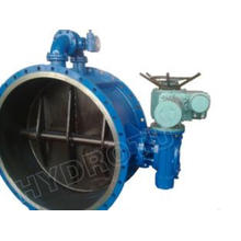 Gear Operated Flanged Butterfly Valve 100mm , Stainless Ste