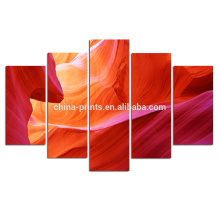 Cópia abstrata da lona do grupo / arte da lona da garganta do antílope / arte de suspensão da parede do painel 5