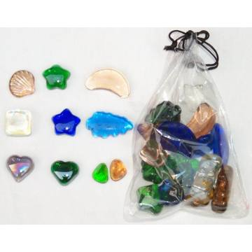 Assorted Shapes of Glass Gems for Decoration